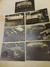 "1000 MILES-LOT OF 7 ORIGINAL 1950""S PHOTOS OLD CARS-DS 1900-FIAT 1900 GRAN LUCE"