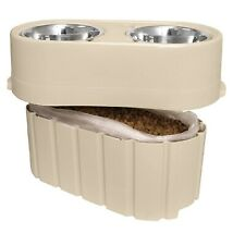 OurPets Store-N-Feed Adjustable Raised Dog Bowl Feeder & Food Storage Container