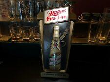 1952 VINTAGE BREWERIANA: Miller High Life Champagne of Bottle Beer Sign - WORKS