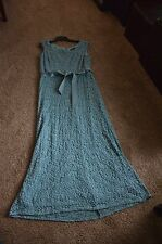 R&M Richards Dusty Blue Lace Gown - Womens 14 - Worn Once