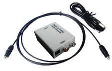 SPDIF Toslink Coax Optical Digital to RCA Analog Audio Converter Adapter+Cable