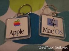 Apple Mac OS Smile Face Clear Acrylic Keychain - Rainbow 1990s Retro Vintage