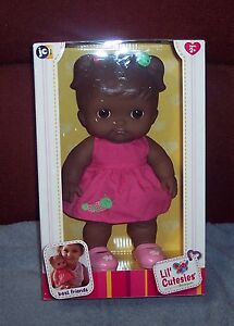 "NEW HTF JC Toys Berenguer Ethnic AA Lil' Cutesies 10"" All Vinyl Toddler Doll NIB"