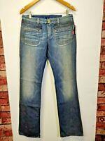 Womens Jeans Denim Ladies Diesel Crossim Slim Bootcut Ladies trousers blue