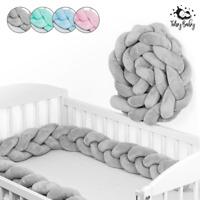 Bettschlange Zopfschlange Baby Nestchen Bettrolle Babynest Nackenrolle 300 cm