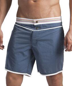 Geronimo Mens Swimwear Blue Hi-Tech Shorts Active Sports Summer