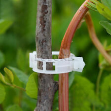 100Pcs Plant Vine Tomato Stem Clips Supports Connect Trellis Twine Cages Flowers