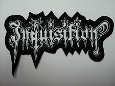 INQUISITION  WHITE SHAPED LOGO   EMBROIDERED PATCH
