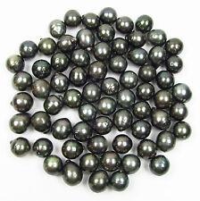 5 pcs 14-15mm Loose Oval Tear Drop Tahitian Black / Green Pearl