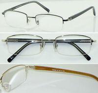 HM05 3Pairs Superb Quality Semi Rimless Reading glasses/Spring Hinge Super Value
