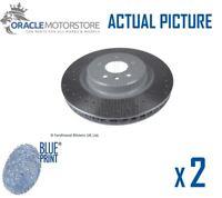 2 x NEW BLUE PRINT FRONT BRAKE DISCS SET BRAKING DISCS PAIR OE QUALITY ADT343301