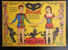 SUPERBE album de poupées à découper Mascarade Volumetrix Carnaval planche