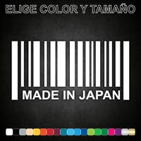 Vinilo adhesivo MADE IN JAPAN, FABRICADO EN JAPÓN, pegatina, JDM, hecho, decal.