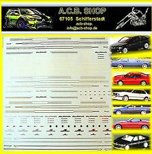 BMW Alpina + AC Schnitzer 1:24 Sponsoren Bogen silber & gold silver & gold Decal