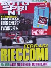 Autosprint 46 1992 Gp Australia vittoria BERGER FERRARI -  [SC.49]