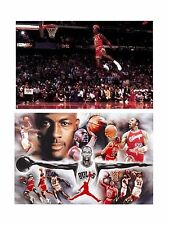 MICHAEL JORDAN POSTER 2 INDIVIDUAL POSTERS DOPE COLLAGE AND FOUL LINE DUNK!