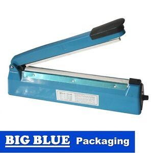 PLASTIC BAG HEAT SEALER 300mm X 2MM SEAL Impulse Sealing Machine benchtop seal