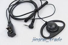 D-Shape PTT Earpiece Earphone Headset for Motorola Radio 1 Pin 2.5mm Talkabout