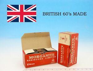 10x MORGANITE UK 60's Type S Insulated CARBON Resistors 30000 Ohm 0.5W 5% 30kOhm