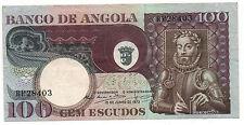PORTUGAL ANGOLA 100 ESCUDOS 1973 PICK 106 MISCUT ERROR LOOK SCANS