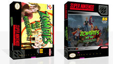 Zombies Ate My Neighbors Snes Juego de reemplazo cubierta estuche caja + (Sin Juego)