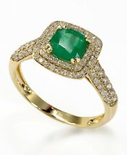 Effy Brasilica 14K Yellow Gold Emerald and Diamond Ring, .5 TCW