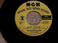 ERIC BURDON AND WAR~HOME COOKIN~PROMO~MGM 14196~~ POP 45