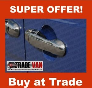 MERCEDES VITO DOOR HANDLE COVERS WITH SENSOR VIANO CHROME 4 STAINLESS STEEL 2004