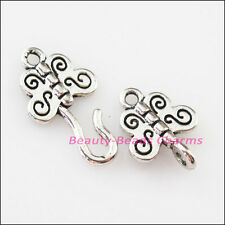 4Sets Tibetan Silver Animal Butterfly Bracelet Toggle Clasps Connectors 11x33mm