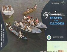 1961 Grumman 12 14 15 17 18 19 20 Canoe Sail Boat Brochure na0322