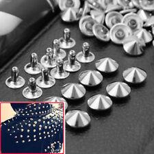 100 Pcs 10mm DIY Punk Rock Silver-Studs Rivets For Clothes Shoes Bags Decoration
