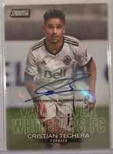 2018 Topps Stadium Club MLS Cristian Techera Vancouver Autograph Card #12