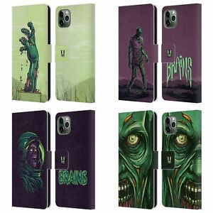 HEAD CASE DESIGNS ZOMBIES LEATHER BOOK CASE FOR APPLE iPHONE PHONES