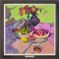 """Hand-painted Original Oil painting art impression still life On Canvas 24""""X24"""""""
