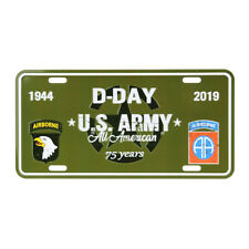 License Plate US Army D-Day Nations Normandy 75th Anniversary 101st 82nd Airborn