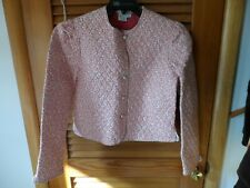 Vera Bradley Junior Girls Delft Pink quilted jacket size M