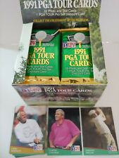 New listing 1991 PROSET GOLF 2 UNOPENED FOIL PACKS!!! LOTS OF ROOKIES IN THESE 2 PACKS!