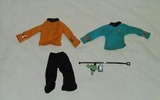 vintage Mego STAR TREK CLOTHES BELT PHASER LOT #2 Mr. Spock Captain Kirk