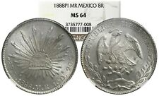 San Luis Potosi, Mexico, Silver Cap-and-Rays 8 Reales, 1888MR, NGC MS 64