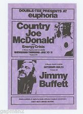 Jimmy Buffett Country Joe McDonald 1975 Double-Tee Oregon Handbill