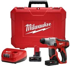 2412-22XC MILWAUKEE M12 Lithium-Ion 1/2 in. Cordless SDS-Plus Rotary Hammer Kit