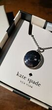 "KATE SPADE INITIAL ""C"" LOCKET NECKLACE-SILVER"