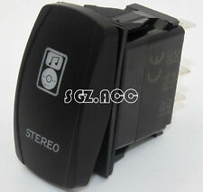 STEREO Rocker Switch Laser Etch Carling Narva Style BLUE LED Heaps of Designs