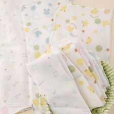 5x BABY NEWBORN Brushed Cotton Muslin SQUARE NOT Clothes Burp Shoulder Protector