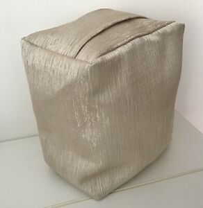SHIMMERING SILKY TEXTURED CHAMPAGNE COLOUR FABRIC DOOR STOP - UNFILLED