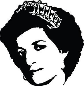 Princess Diana VINYL DECAL STICKER royals 80s celebrity activism