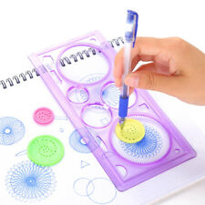 Plastic Painting Multifunction Puzzle Spirograph Geometric Ruler Drafting Tools