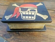 SECRET BOOK BOX (BOYS, GIRLS, STORAGE, TRINKET, BIRTHDAY, SKULL)