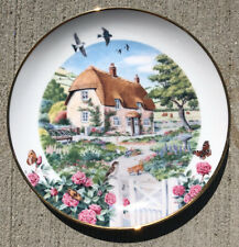 "Great Condition ""Rose Cottage� Franklin Mint Heirloom Collectible Plate"