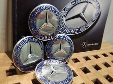 4 x Neu für alle Original Mercedes Alufelge Nebendeckel Naben-kappen 75mm Kappe